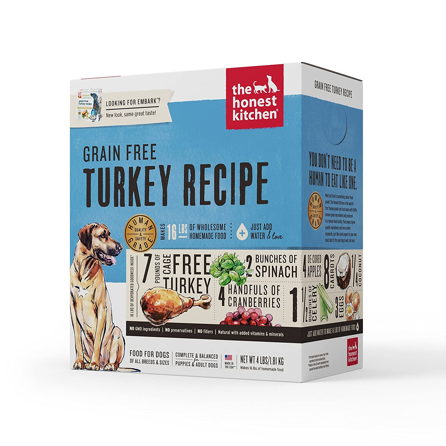 Amazon.com : The Honest Kitchen Human Grade Dehydrated Grain Free ...