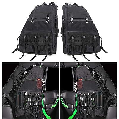 Roll Bar Storage Bag Cage with Multi-Pockets for Jeep Wrangler JK JKU TJ LJ Unlimited 4 Doors - Pack of 2: Automotive
