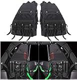 Bolaxin Roll Cage Multi-Pockets Storage Saddlebag & Organizers Bag for 1997~2018 Jeep Wrangler JK TJ JL LJ & Unlimited 4 Doors - Pack of 2