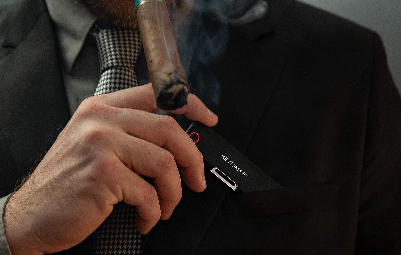 KS817BLK Pocket Size Ultra Slim Schl/üsselanh/änger Herren Messer KeySmart Dapper