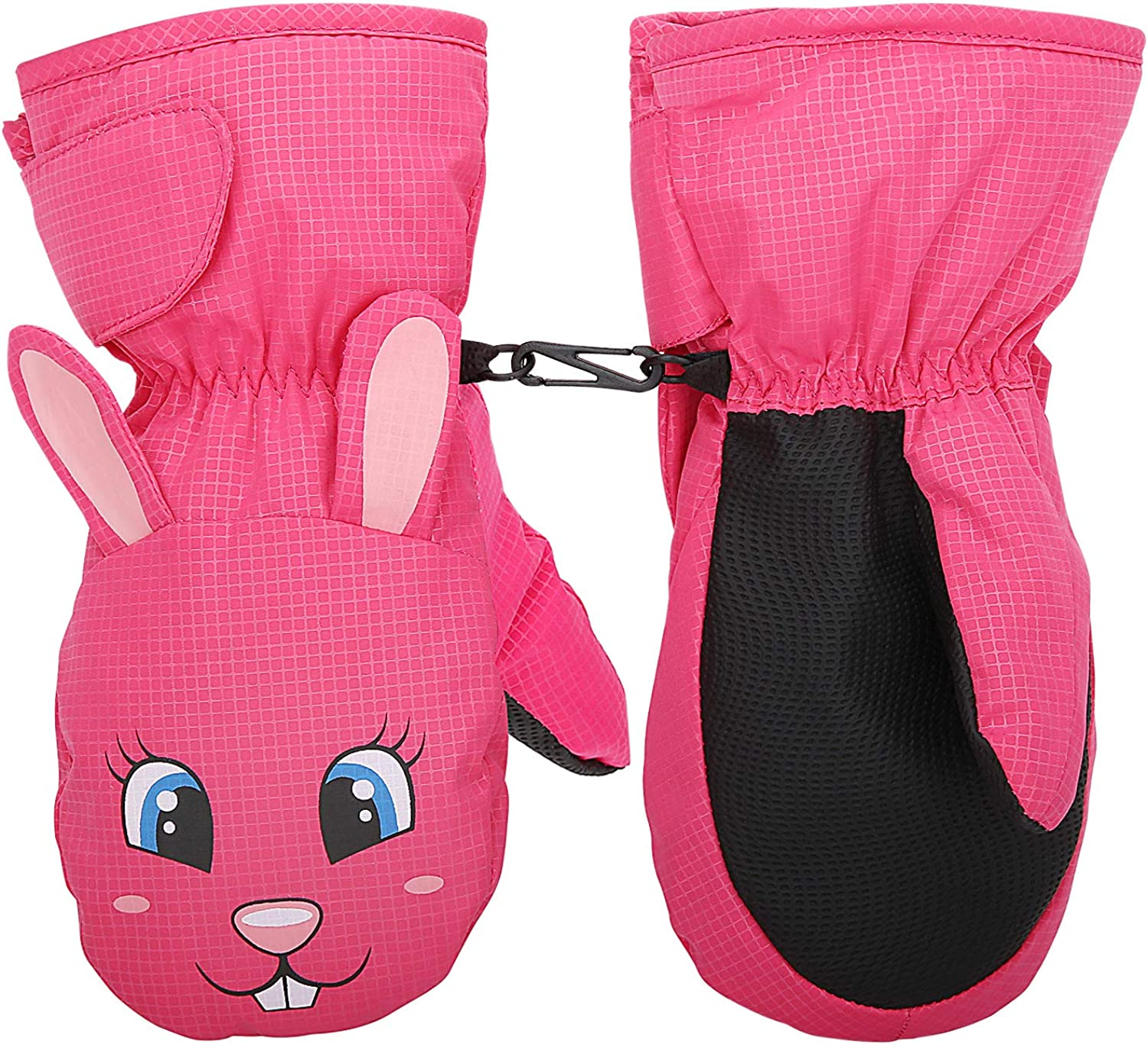 MoKo Waterproof Cold Weather Thermal Winter Ski Gloves Mittens for Kids Toddlers