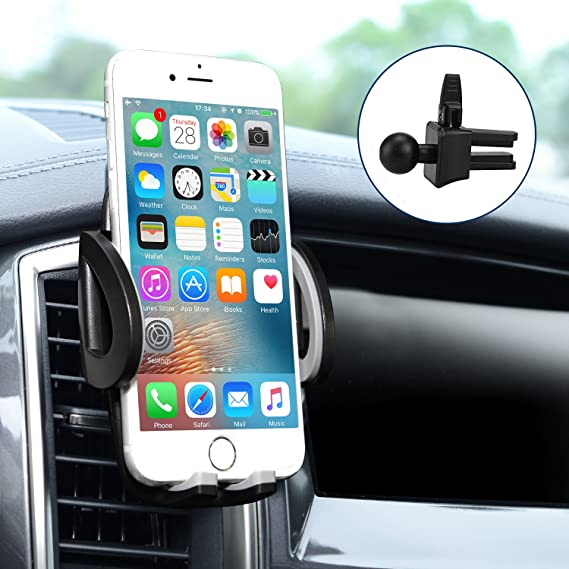 best sneakers 6c9ec c5603 Car Mount, Amoner Universal Car Air Vent Holder, 360 Rotation with Release  Button for iPhone X/8 Plus/8/7 Plus/7/6s/SE, Samsung Galaxy and other ...