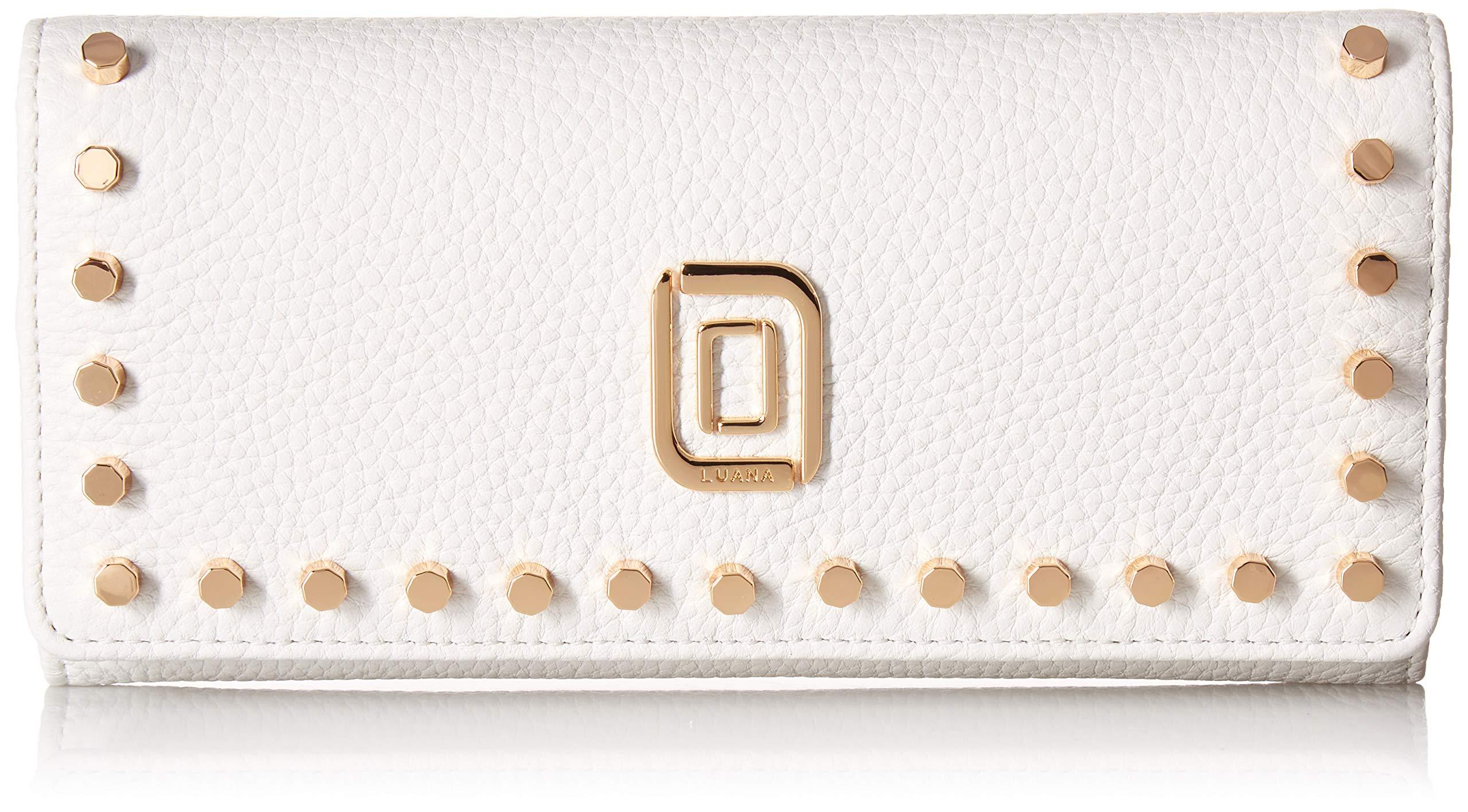 CDM product LUANA ITALY Women's DITA Wallet w/Studs, Bianco big image