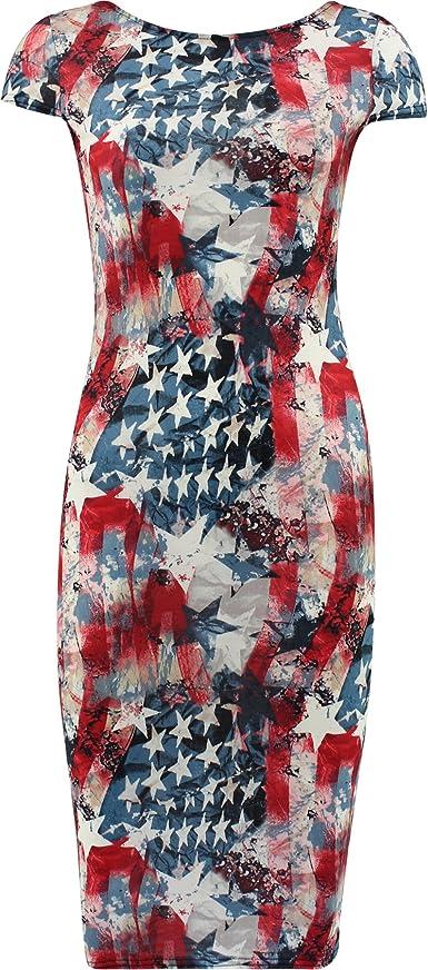 FLIRTY WARDROBE Vestido de Midi de Estados Unidos para Mujer ...