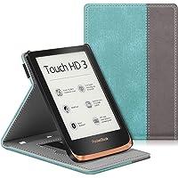 FINTIE Etui do Pocketbook Touch HD 3/Touch Lux 4/Basic Lux 2 czytnik e-booków - wysokiej jakości skóra PU pokrowiec…