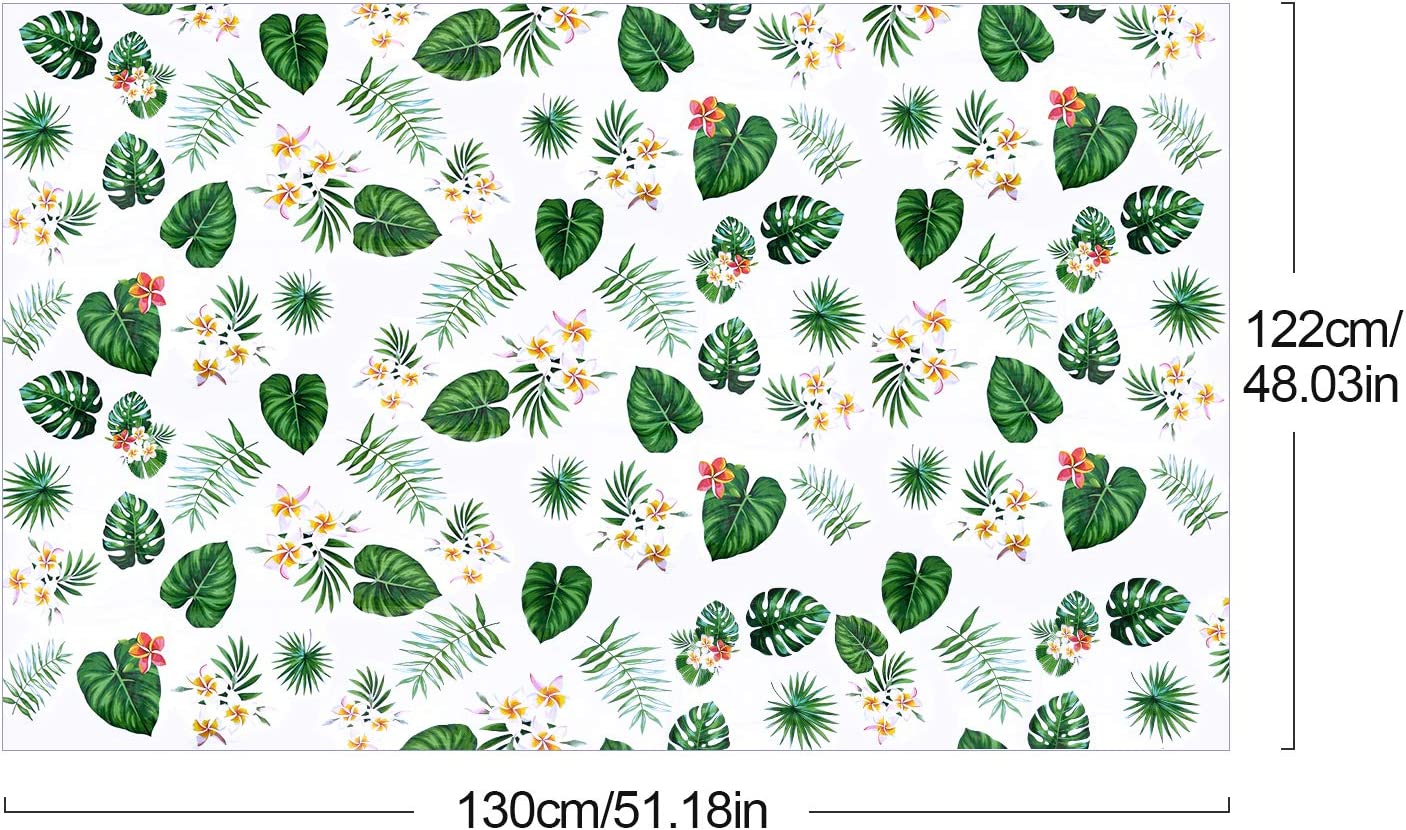 Summer Beach Kids Birthday Cocktail Party Supplies 3 Pack Hawaii Disposable Plastic Rectangular Table Covers Aloha Tropical Palm Leaves Table Cloth Hawaiian Luau Tablecloths for Party Decoration