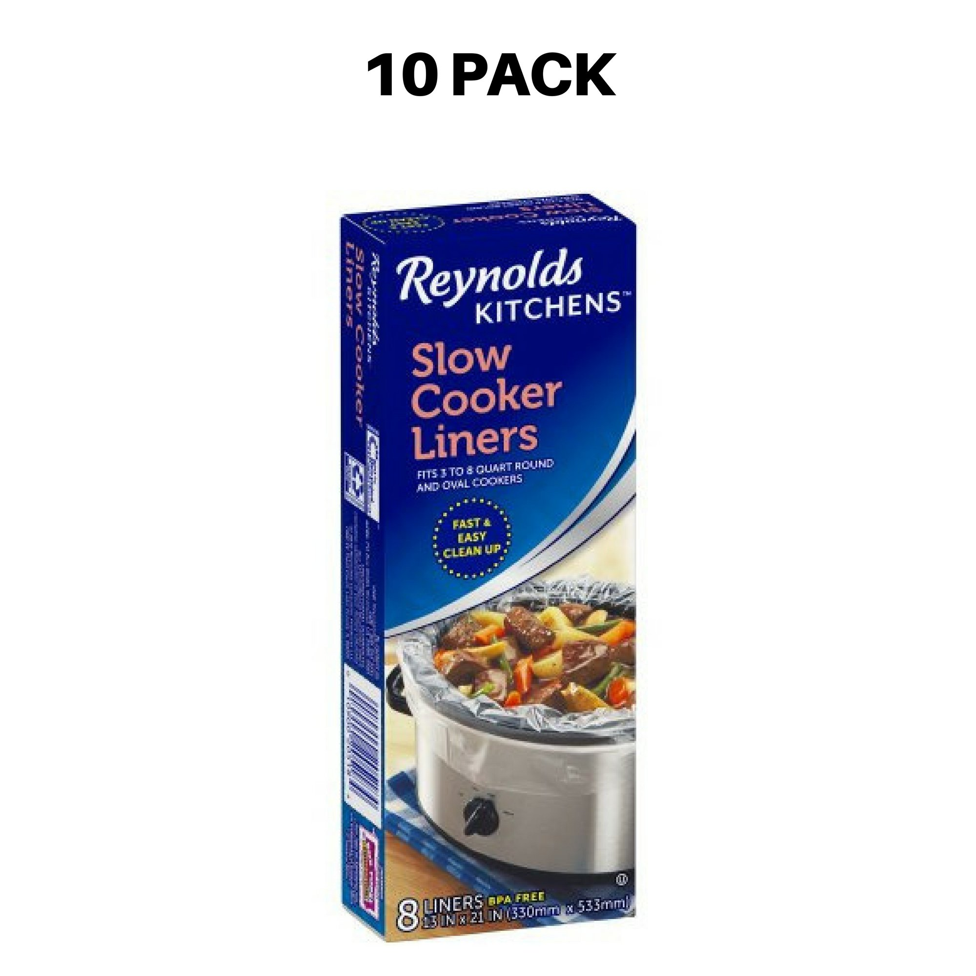 Reynolds Kitchens Slow Cooker Liners 8 ct Box - 10 Pack