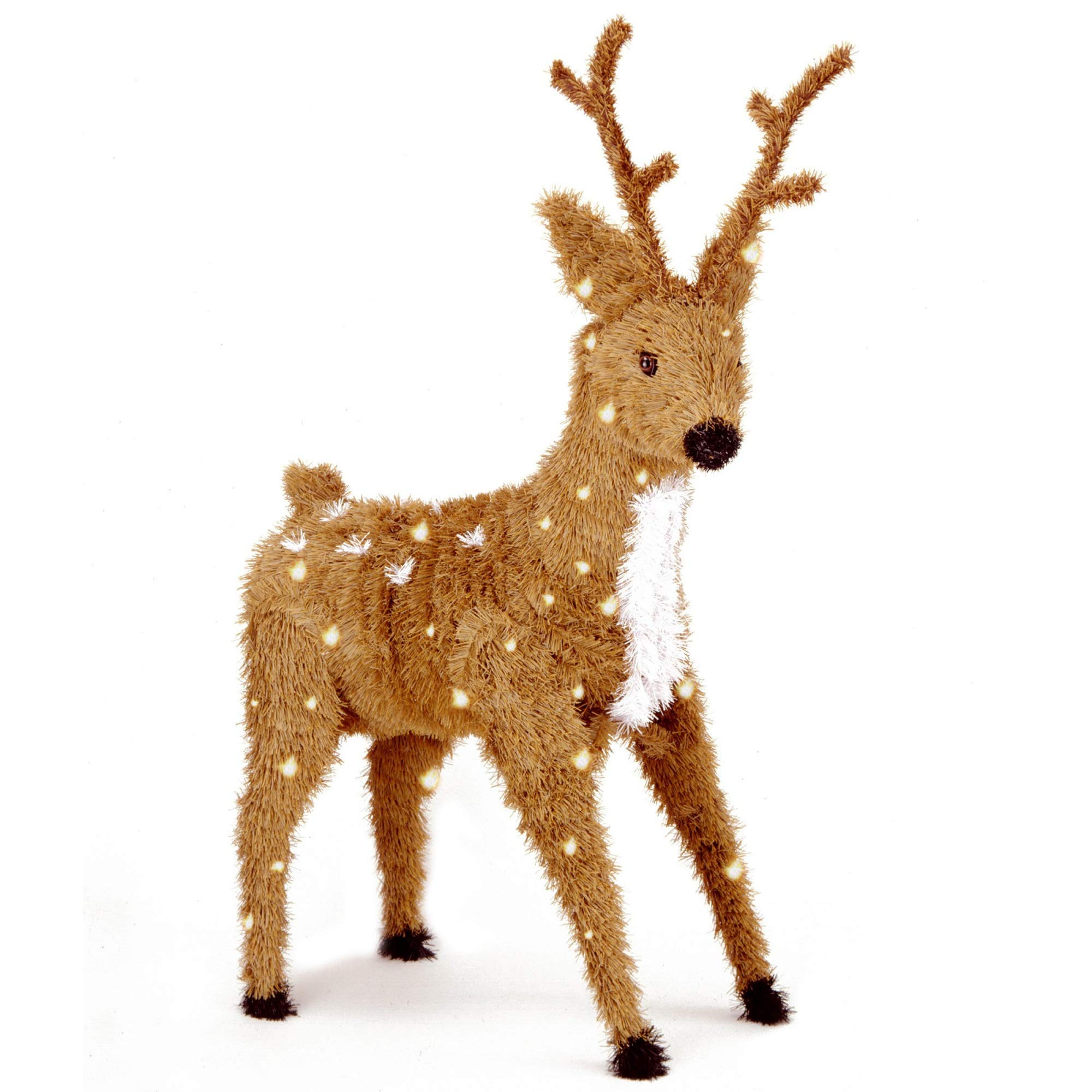 CC Christmas Decor 36'' Creative Images Brown Standing Reindeer with Spots and 150 Clear Lights