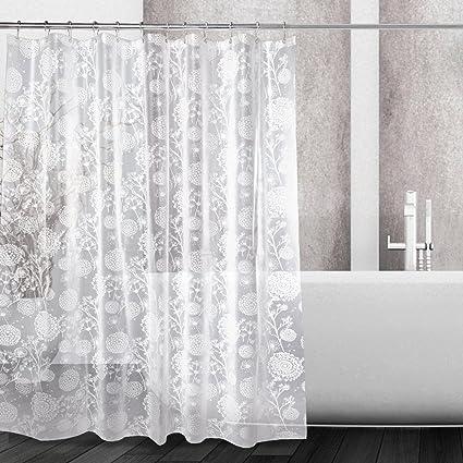 Amazon Kilokelvin PEVA Shower Curtain Liner Mildew Resistant
