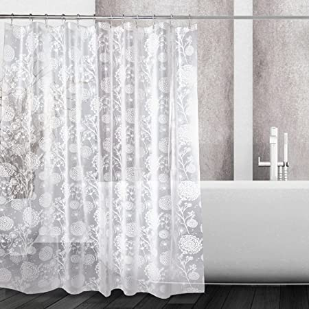 Kilokelvin Shower Curtains Liner Dandelion Design Heavy Duty 100 PEVA Bathroom Curtain 72x72 Inch Mildew