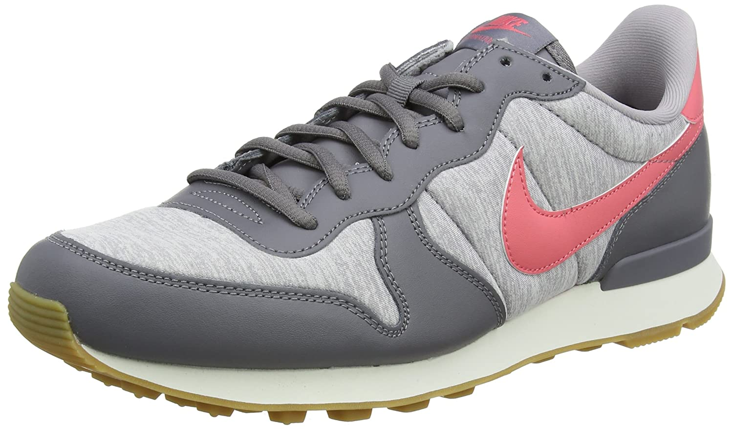 Nike Wmns Internationalist, Zapatillas para Mujer 44 EU|Gris (Gunsmoke/Sea Coral-atmosphere Grey-sail 020)
