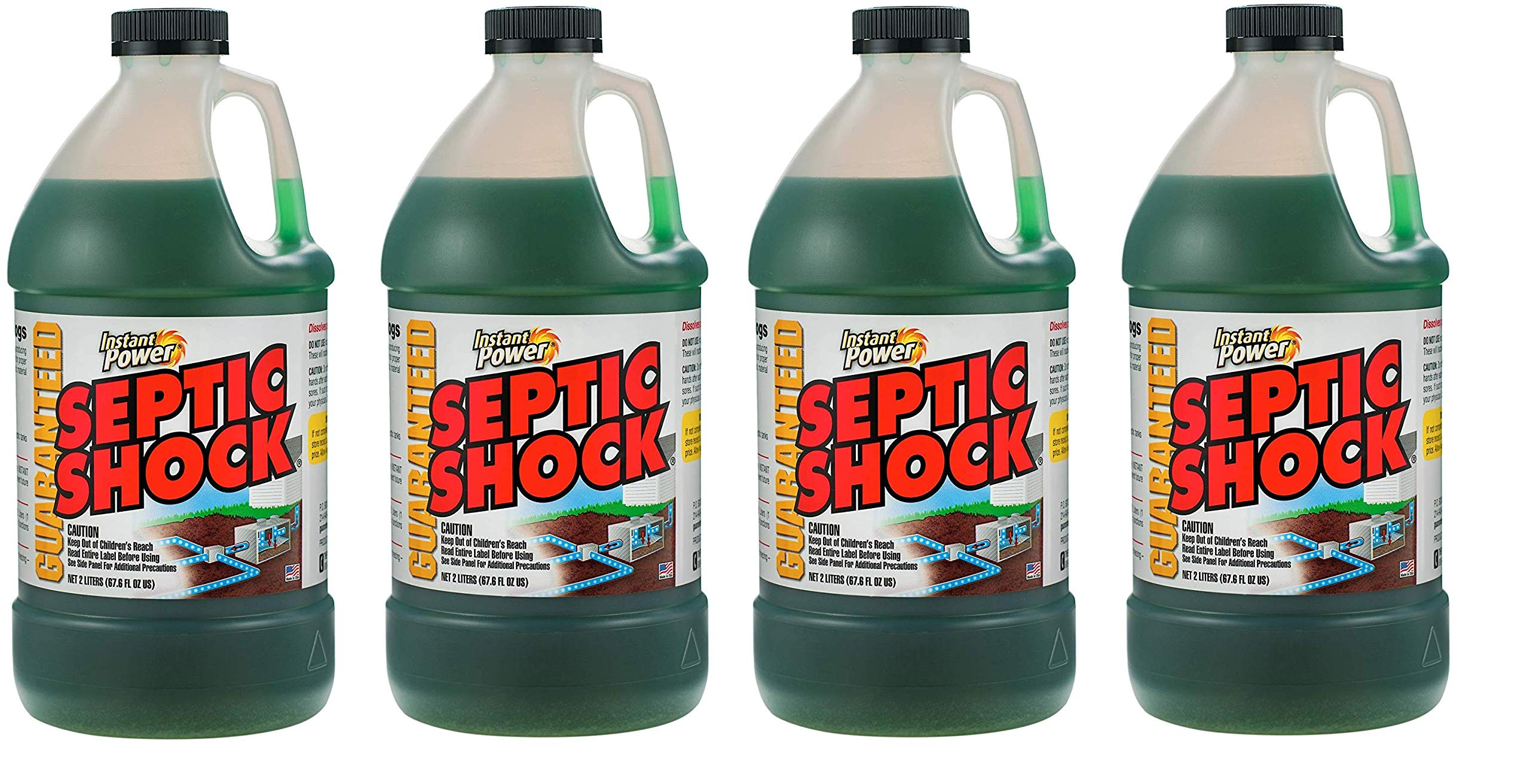 Instant Power 1868 Septic Shock Blue 67 Fl Oz (1, Fоur Paсk)