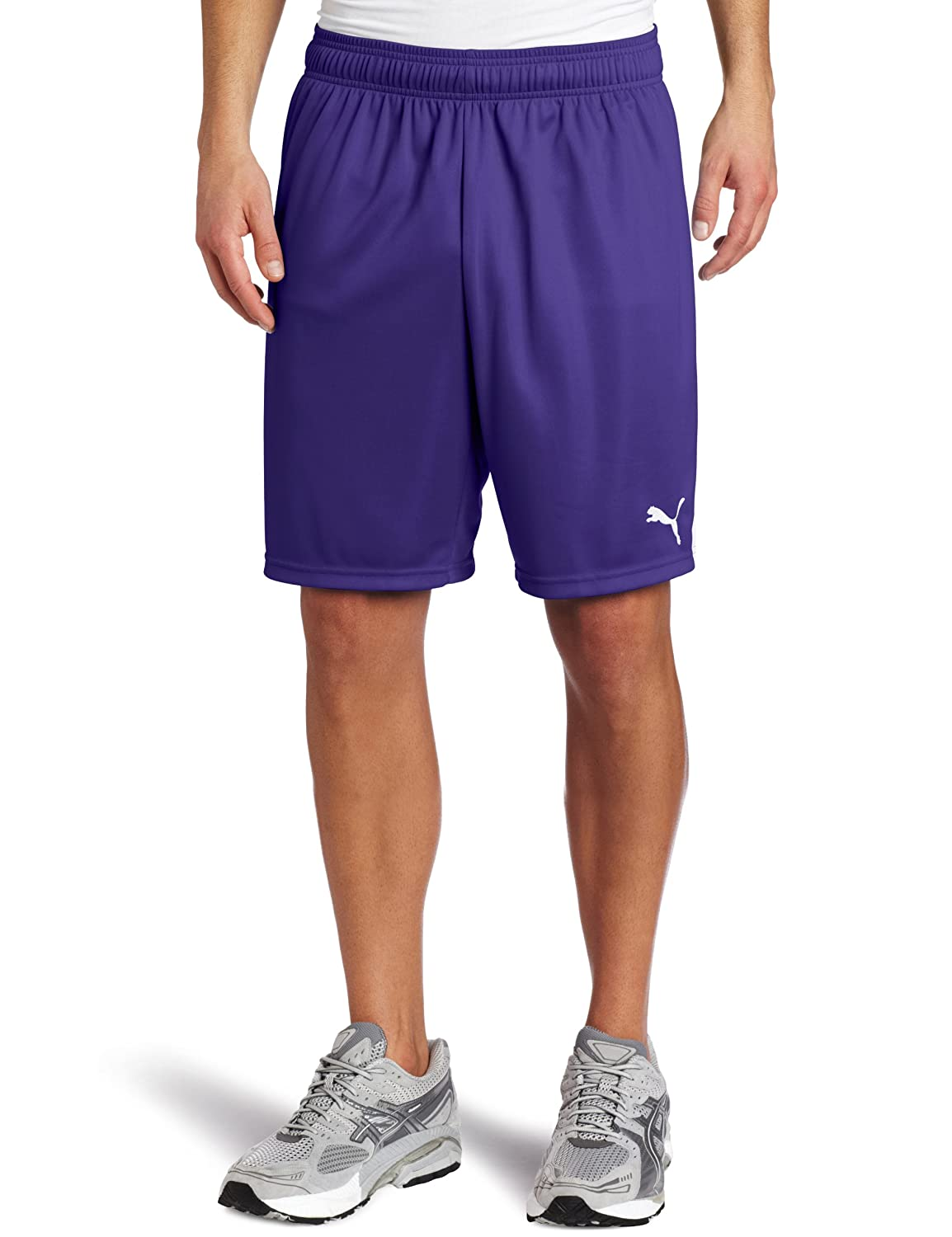 PUMA Team Shorts without Inner Slip, Team Violet-Weiß, Medium