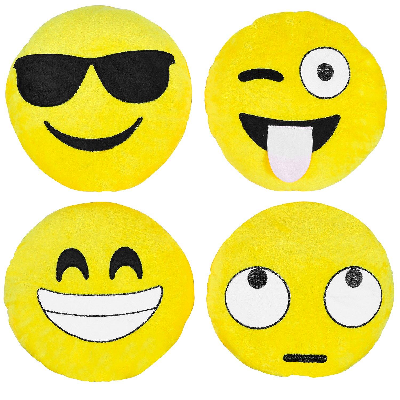 Cuscini grandi Emoji Set da 4 pezzi