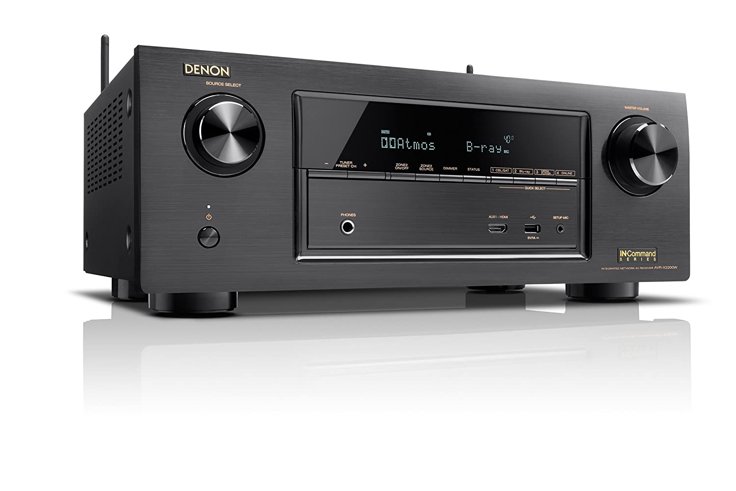 Amazon.com: Denon AVR-X2200W 7.2 Channel Full 4K Ultra HD A/V Receiver with  Bluetooth and Wi-Fi: Home Audio & Theater
