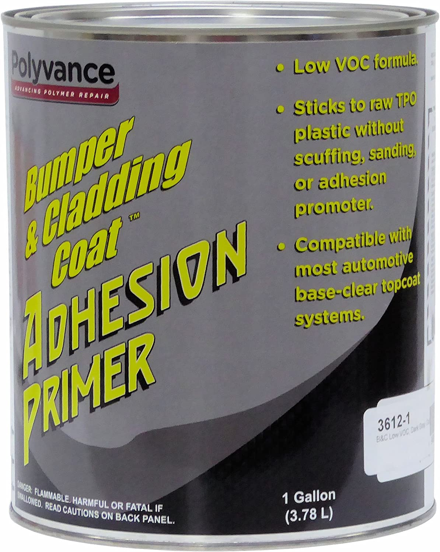 Amazon Com Polyvance Bumper And Cladding Adhesion Primer Low Voc Dark Gray Gallon Automotive