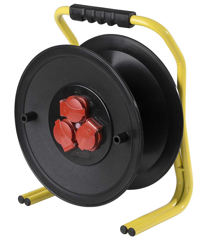 IP44 Gewerbe Baustelle 50m Kabel as Schwabe 20620 PROFI-Leertrommel 320mm/Ø leer f/ür ca