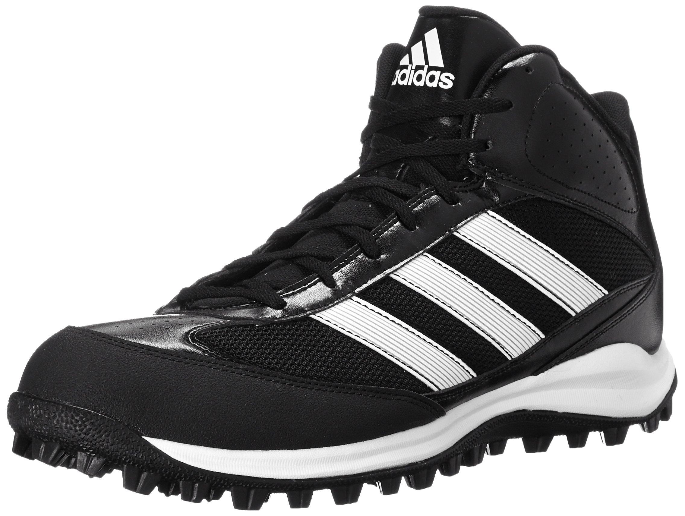 adidas Performance Men's Turf Hog LX Low Football Cleat,Black/White,6.5 M US by adidas