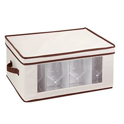 Beau Honey Can Do SFT 02067 Natural Canvas Soft Storage Box, Large Window