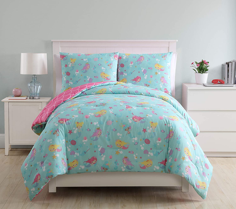 VCNY Home 3 Piece Mermaid Princess Comforter Set Twin, Full, Multi