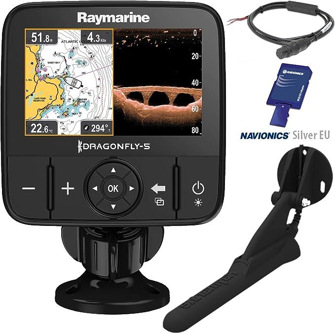 Raymarine Dragonfly 5PRO Sonda de Pesca GPS y CHIRP DownVision Incluye Transductor CPT-DVS Resistencia al Agua IPX6 y IPX7 E70293: Amazon.es: Electrónica