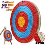 Ogrmar 3 Layers 20 inch Traditional Solid Straw Archery Target 2.2 inch Thickness Hand-Made Arrows Target for Outdoor…