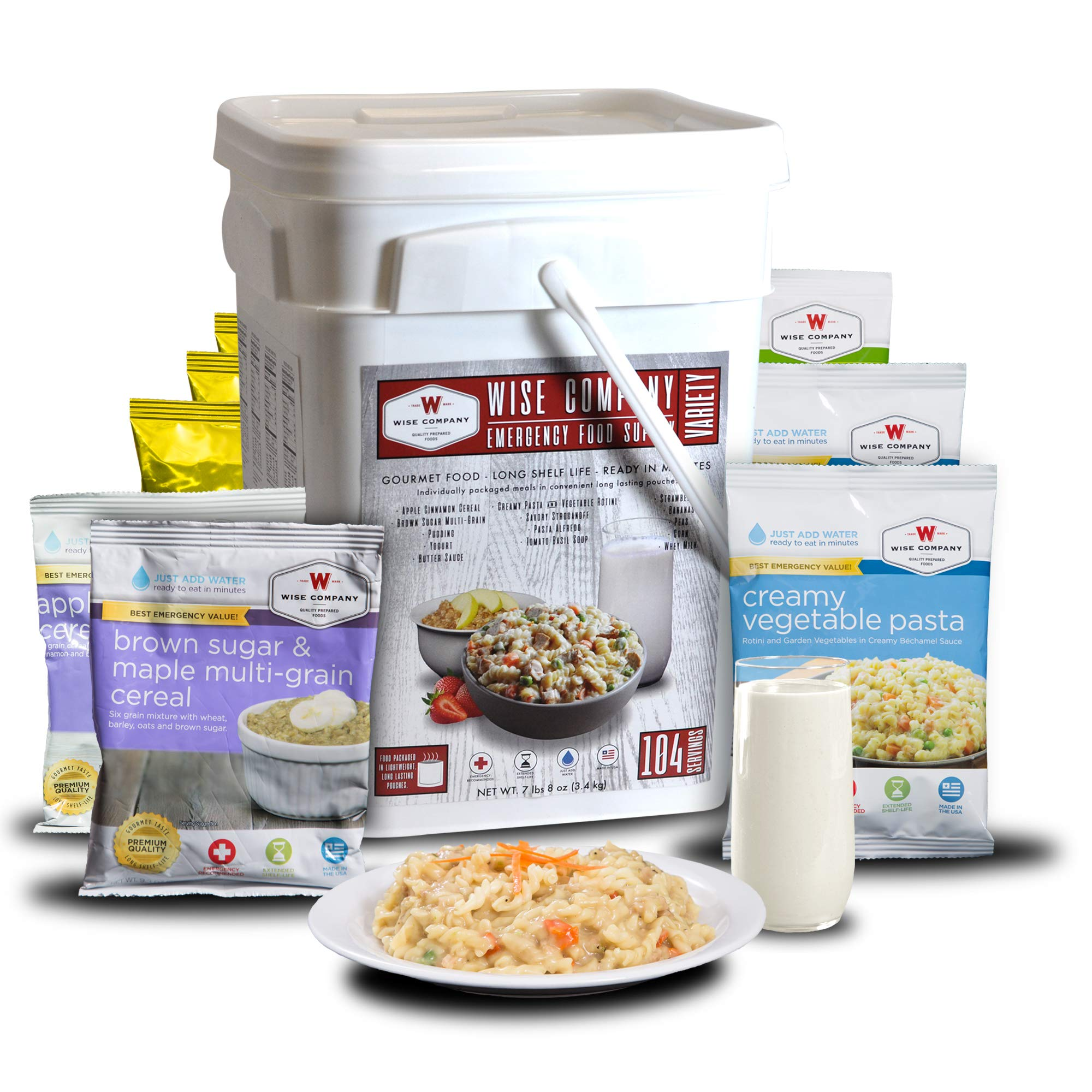 Wise Company Emergency Food Supply, Variety Pack, 25-Year Shelf Life, 104 Servings by Wise Company