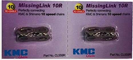 2 Pairs KMC Re Missing Link Chain Connetor CL559R for 10 Speeds Silver