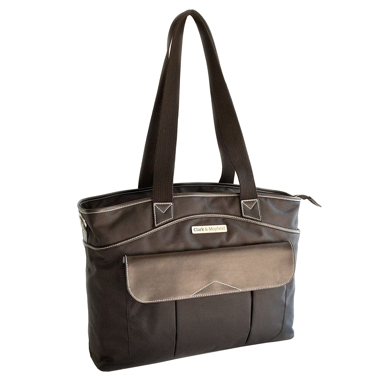 "Amazon.com: Clark & Mayfield Women's Newport Laptop Handbag Bag Tote 17.3""  - Black: Computers & Accessories"