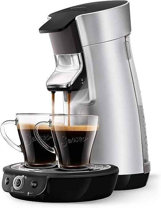 Senseo Cafetera Viva Café Duo Select HD6566/10, 0.9 litros, Acero ...