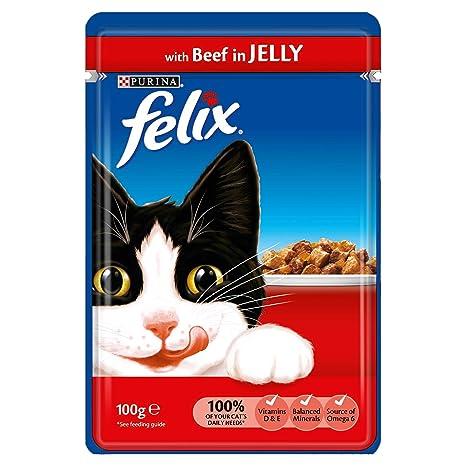 Felix - Comida para Gatos mojada en gelatina, 20 x 100 g