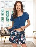 MAXMODA Womens Two Piece Short Set Cami Shorts
