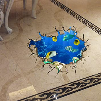 CLG-FLY 3d three-dimensional wall stickers collage bedroom living room floor waterproof decorative