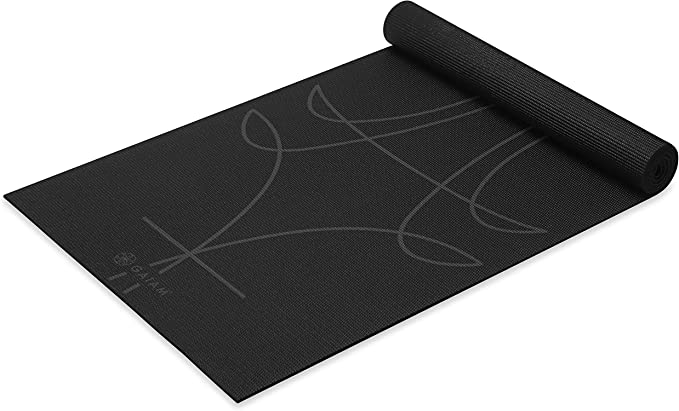 Gaiam Premium Print Yoga Mat - best yoga mats for sweaty hands