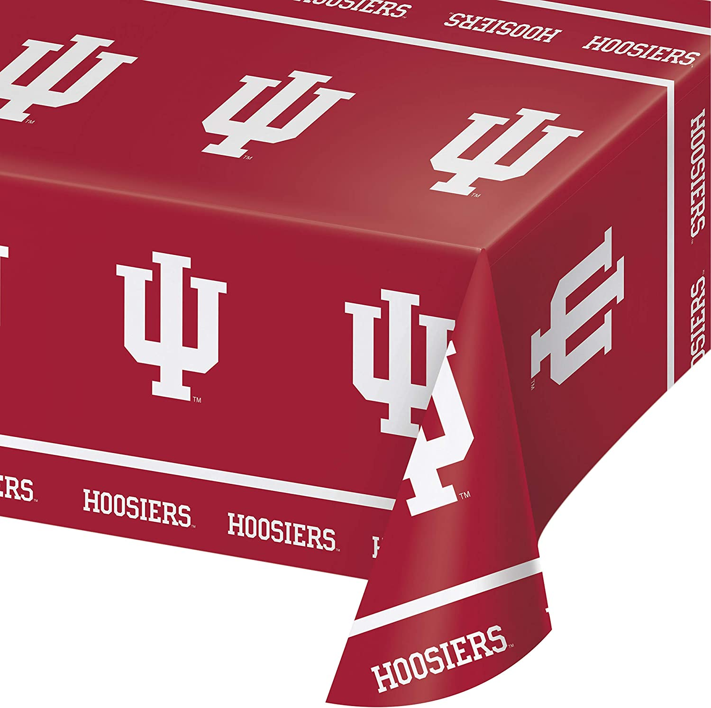 Indiana University Plastic Tablecloths, 3 ct