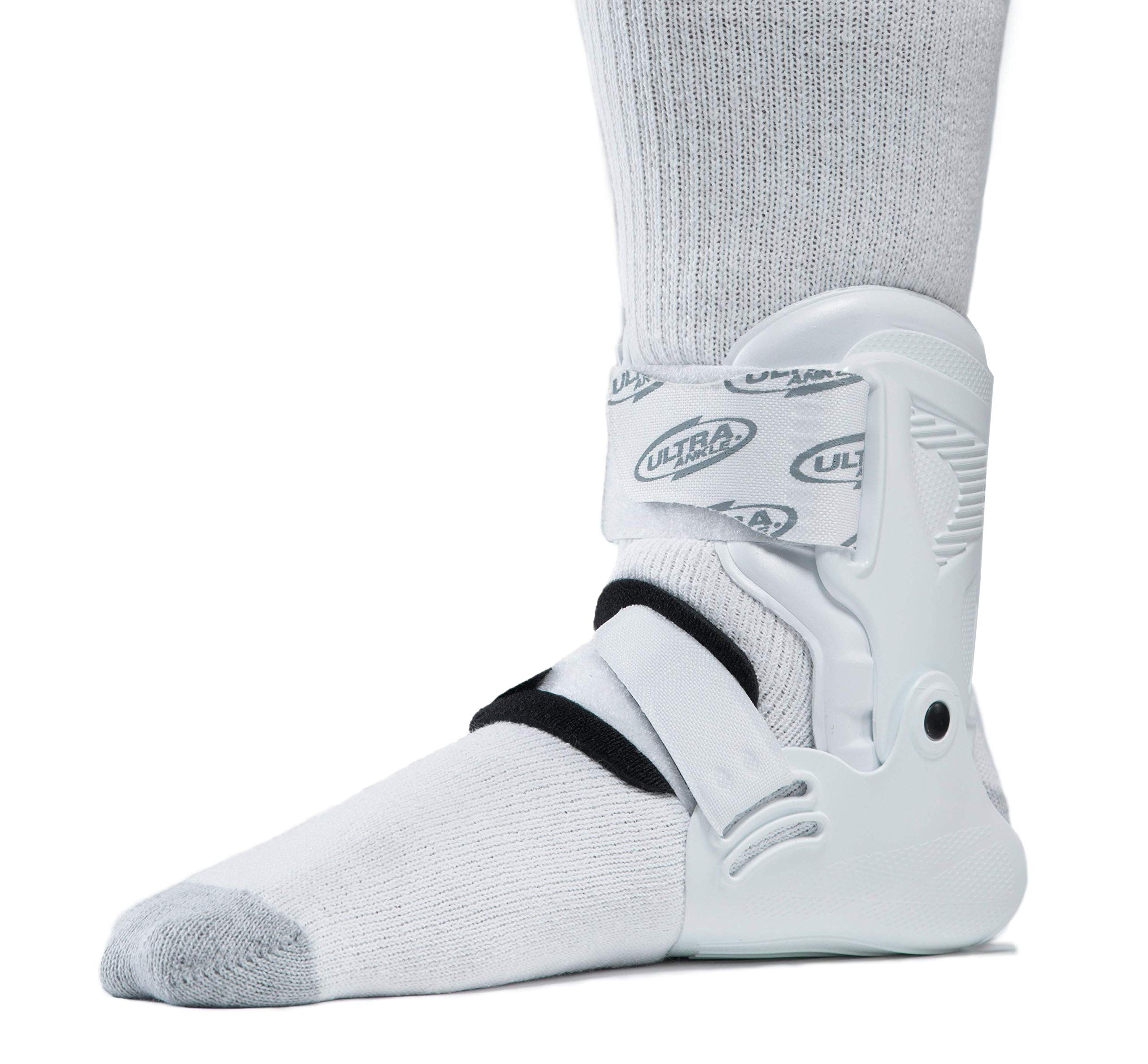Ultra Zoom Ankle Brace for Injury Prevention, Provides Support and Helps Prevent Sprained Ankles in Volleyball, Basketball, Football - Supportive, Secure Brace for Athletes- White, Large/X-Large