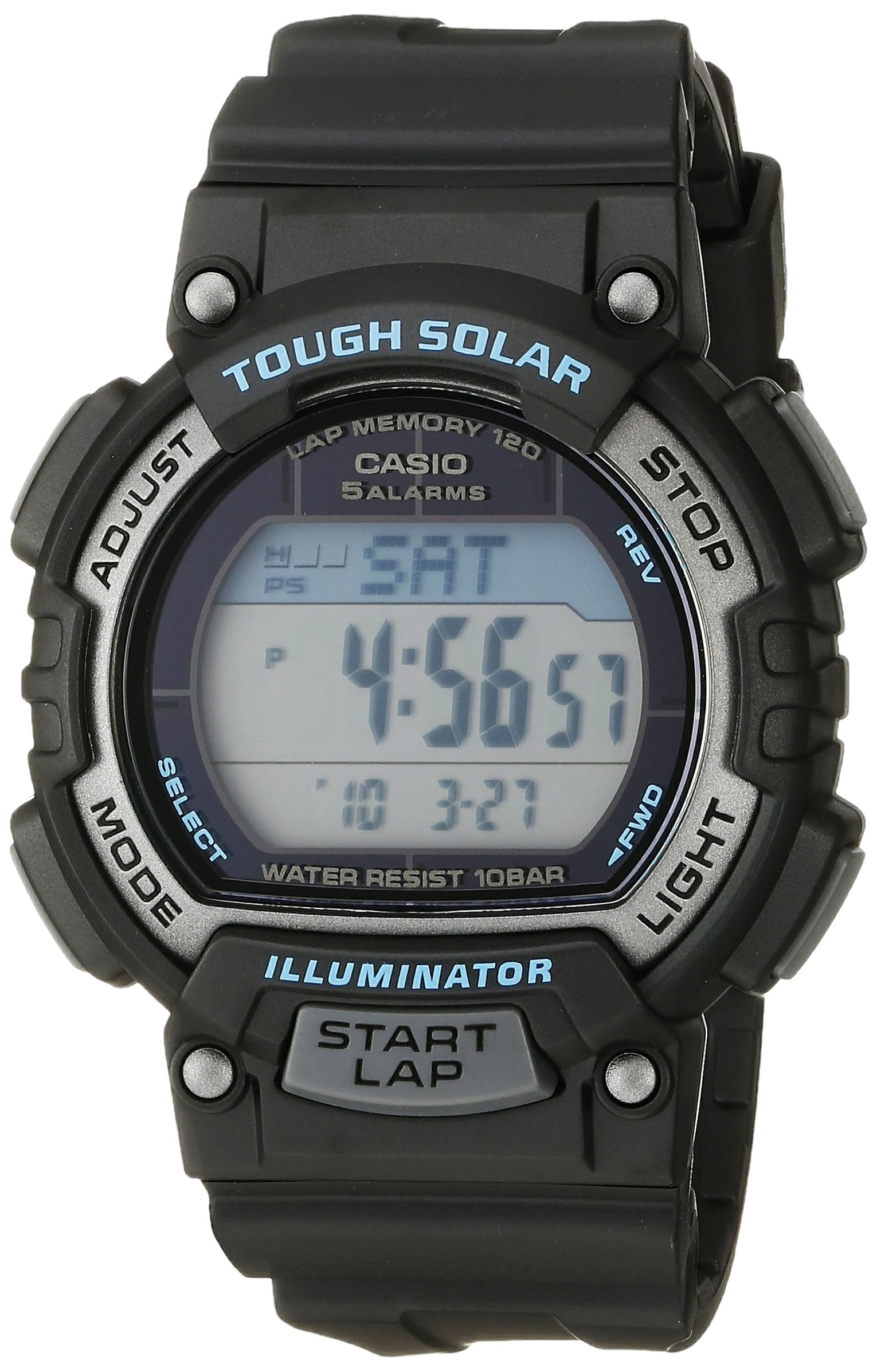 Casio Women's STL-S300H-1ACF Solar Runner Digital Display Quartz Black Watch by Casio