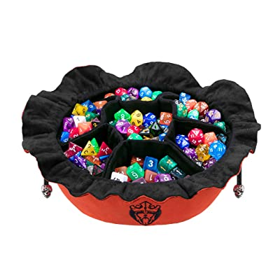 CardKingPro Immense Dice Bags with Pockets - Burnt Orange - Capacity 150+ Dice - Great for Dice Hoarders [Patented Design]: Toys & Games