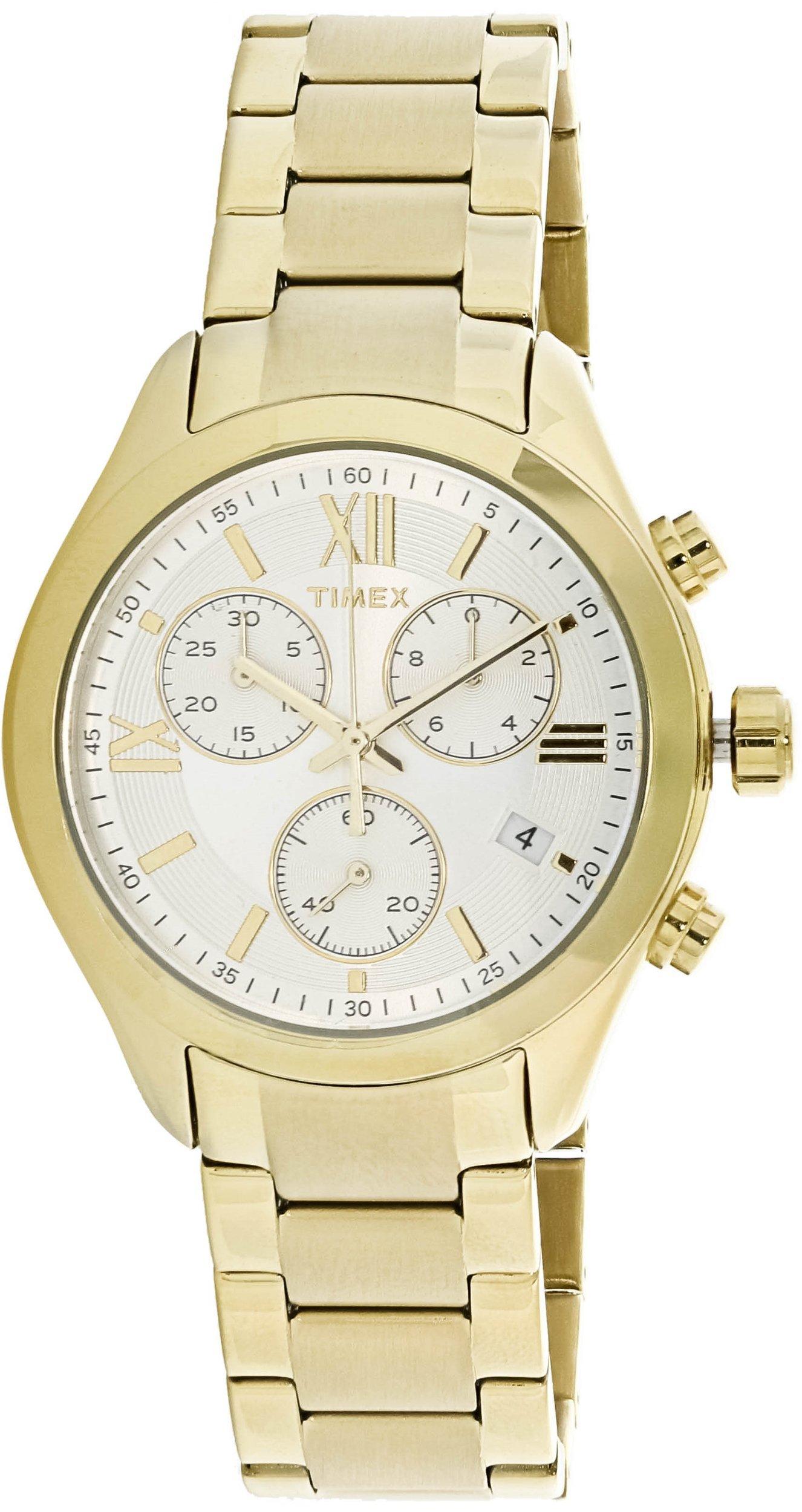 Timex Women's Miami Chronograph TW2P93700 Gold Stainless-Steel Quartz Fashion Watch by Timex