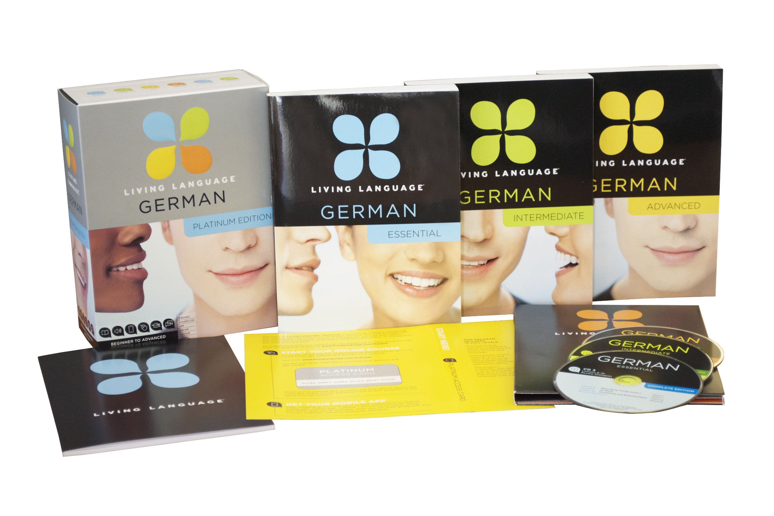 Living Language German, Platinum Edition: A complete beginner through advanced course, including 3 coursebooks, 9 audio CDs, complete online course, apps, and live e-Tutoring by Living Language