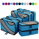 6 Set Packing Cubes,3 Various Sizes Travel Luggage Packing Organizers Dark Blue