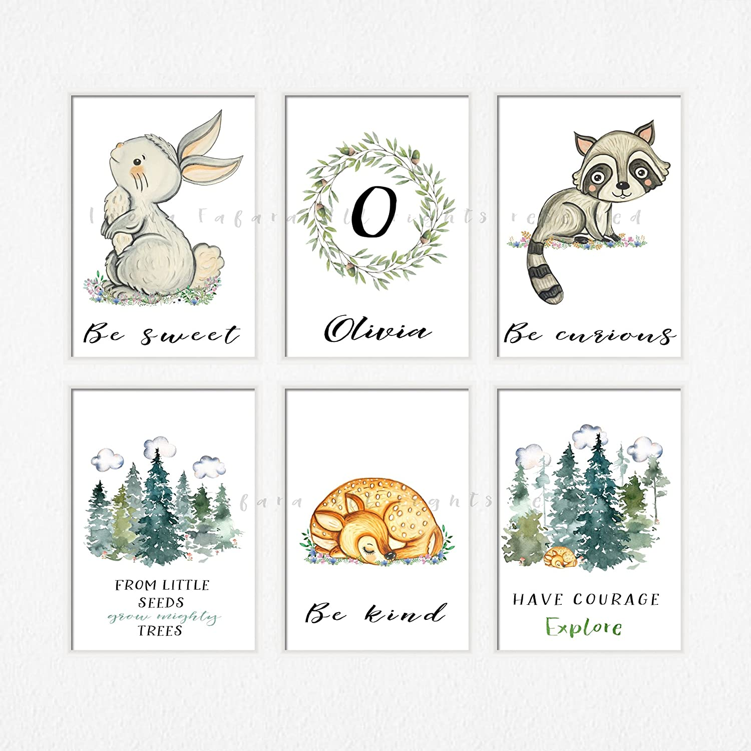 photograph about Printable Woodland Animals identified as : Boy woodland decor Printable woodland pets