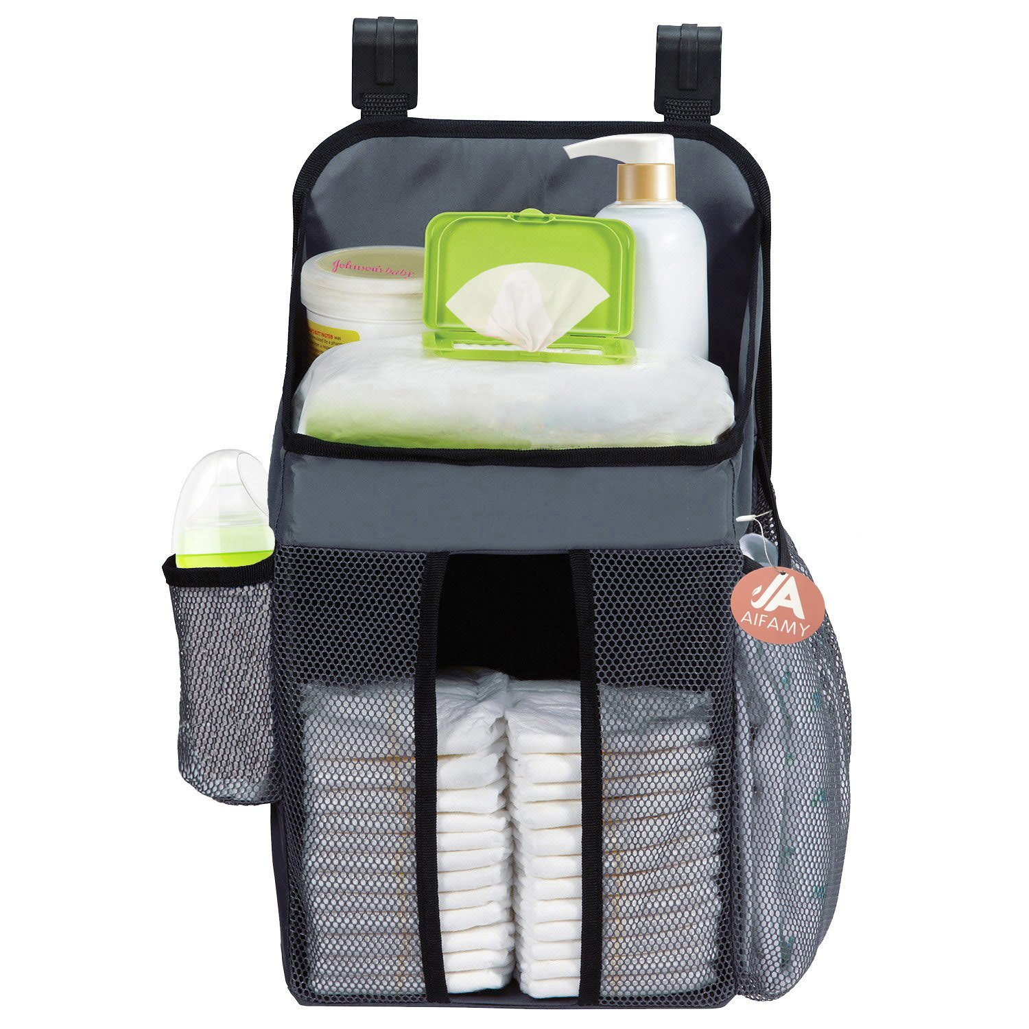 Hanging Diaper Organizers Fits All Crib Strollers Playards Nursery Storage A AIFAMY