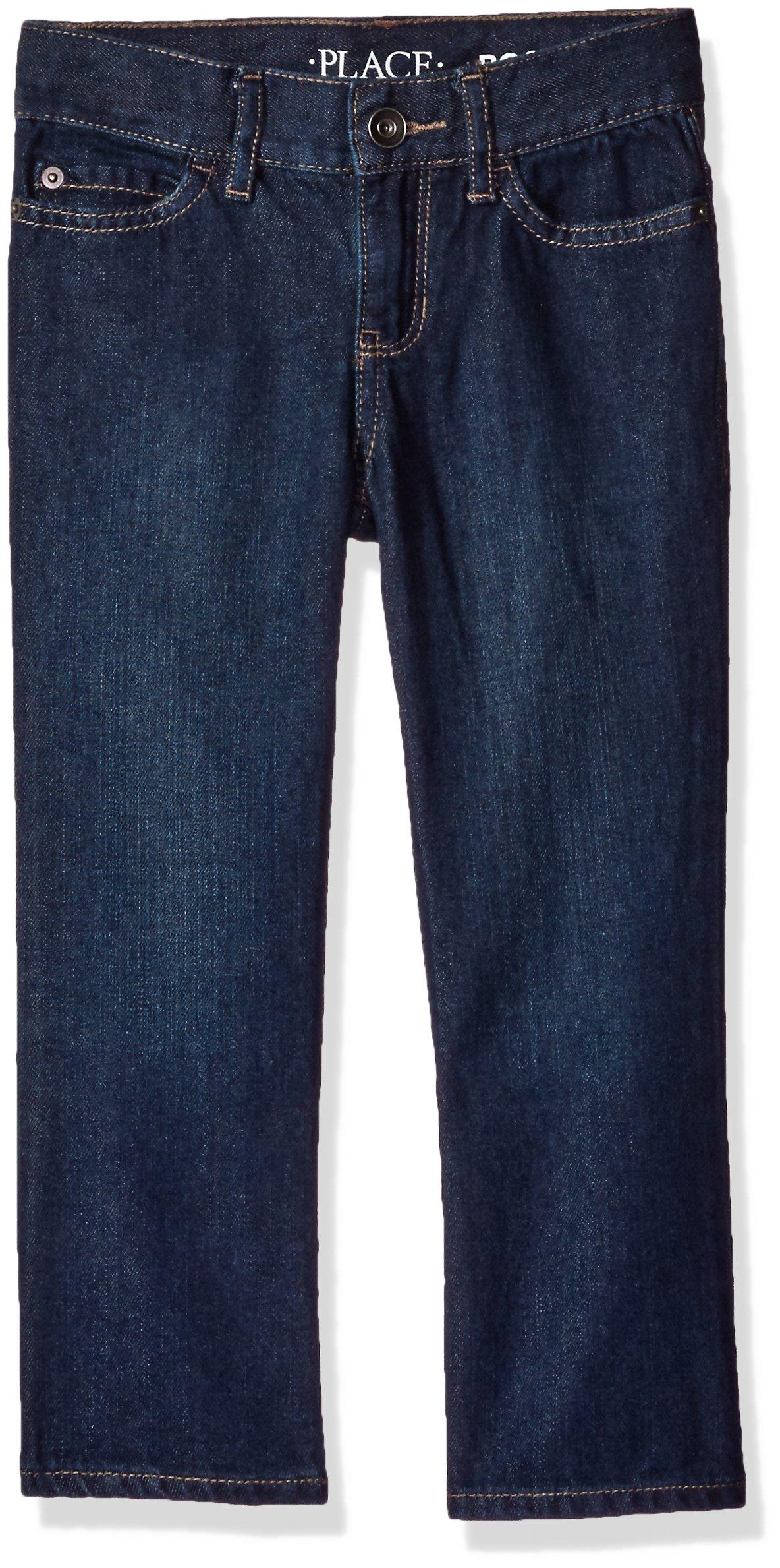 The Children's Place Boys' Big Bootcut-Jeans, Authentic Wash, 12