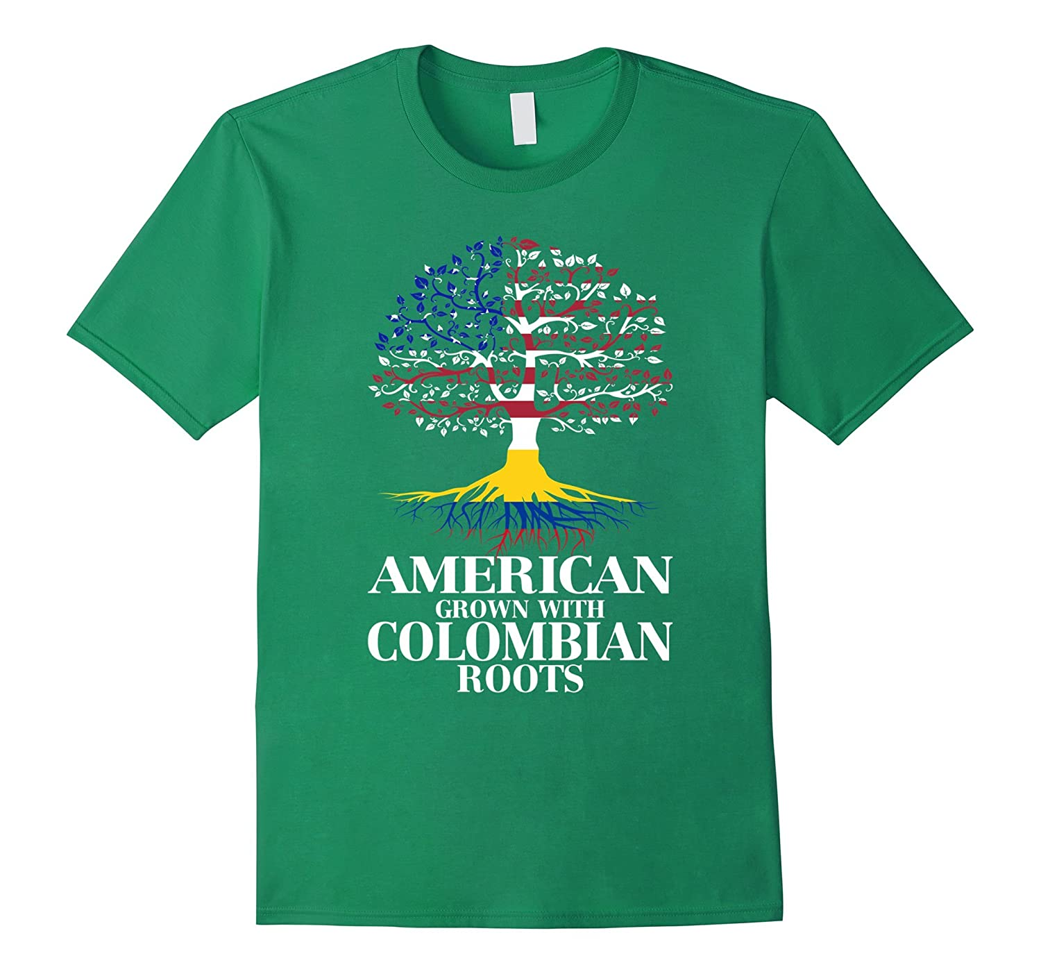 American Grown With COLOMBIAN Roots T-Shirt Tshirt-BN