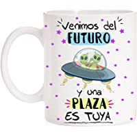 FUNNY CUP Taza Opositor Venimos del Futuro y una Plaza es Tuya Taza Regalo para opositor u opositora Ideal para…