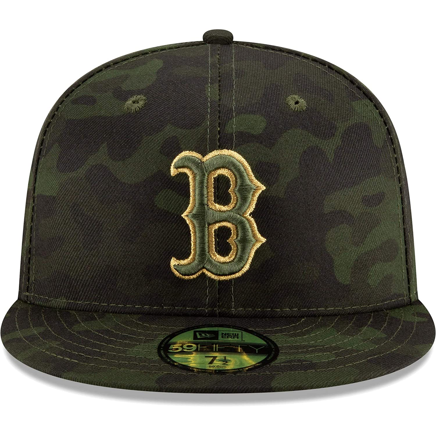 e3712c28fff8a0 Amazon.com : New Era Boston Red Sox 2019 MLB Armed Forces Day On-Field  59FIFTY Fitted Hat - Camo : Sports & Outdoors