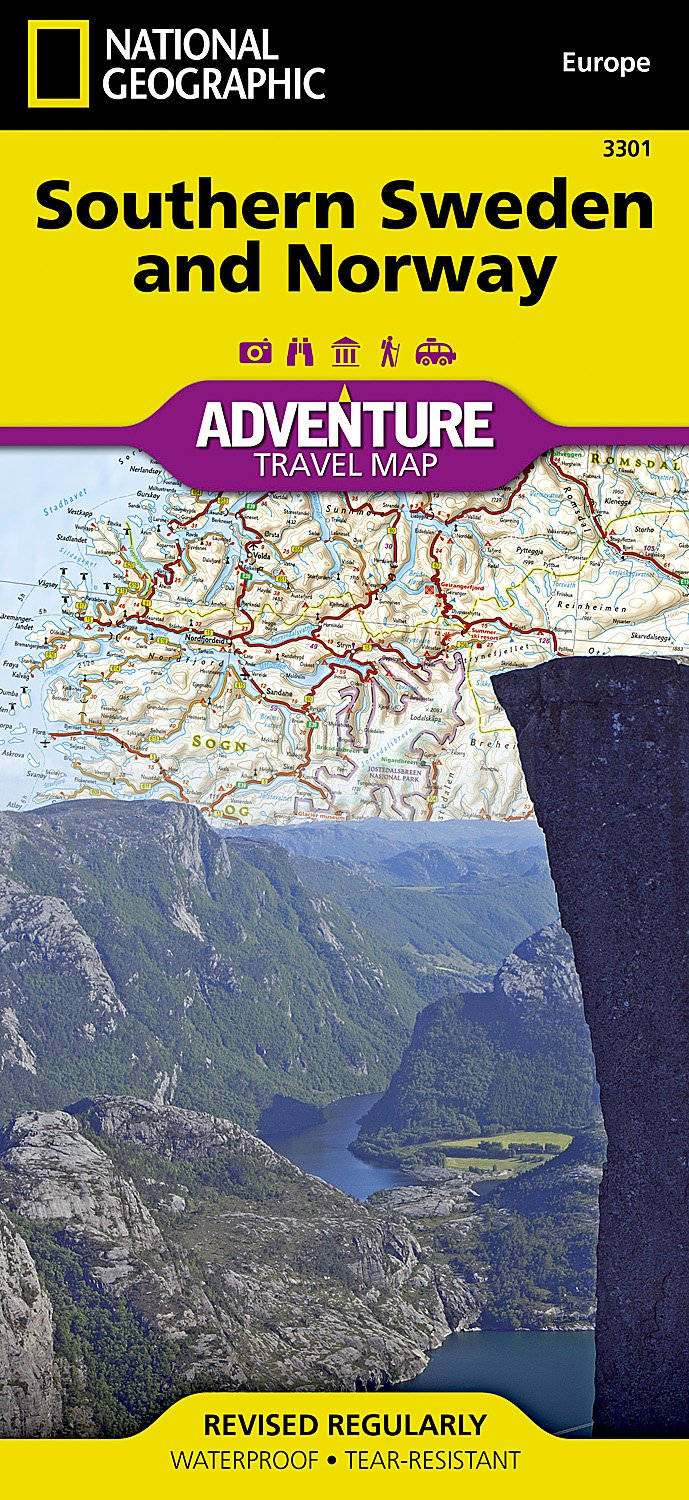 Southern Sweden And Norway National Geographic Adventure Map - Norway rummage sales 2015 map