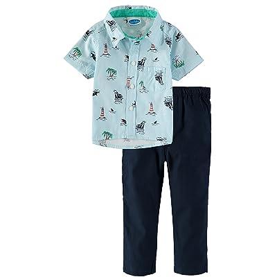 7ee99de86b56 Bon Bebe Baby Boys  Button Down Shirt Woven Pant Set