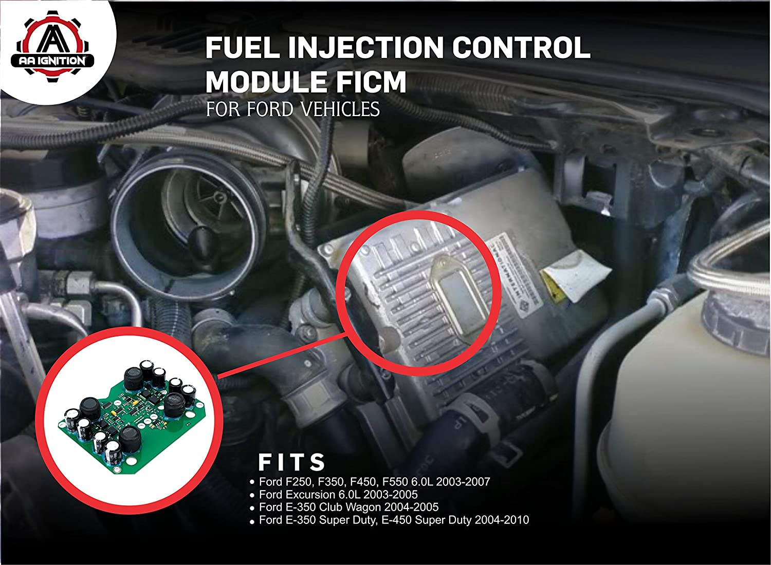 Ficm 60 Powerstroke Fuel Injection Control Module 2003 6 0 Filters Fits Ford F250 F350 F450 F550 Excursion 60l Diesel Super Duty Replaces 904 229